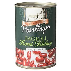 ポジリポ ファジョーリ・ロッシ・キドニー(赤いんげん豆)水煮 / 400g
