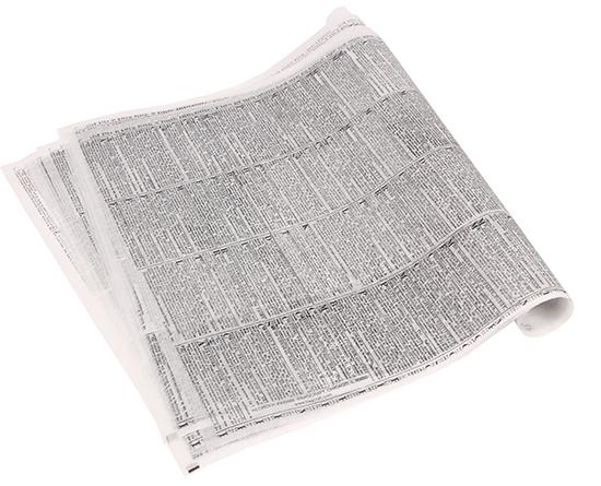 USAドライワックスペーパー ニュースペーパー柄