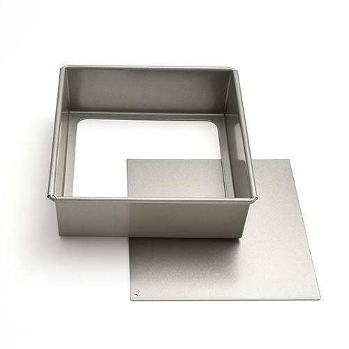 *● フッ素樹脂加工底取正角デコレーション型15cm / 1個