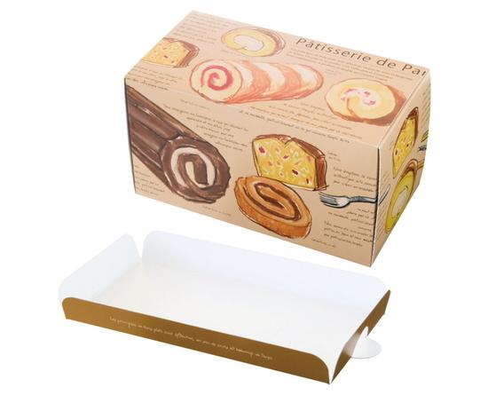 ロールケーキボックス(パティスリーコレクションロールBOX-M)