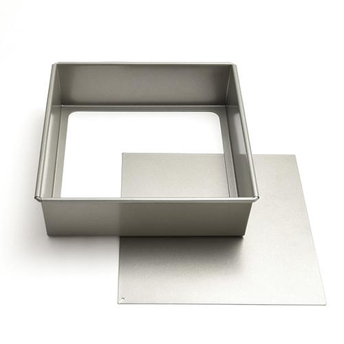 *● フッ素樹脂加工底取正角デコレーション型18cm / 1個
