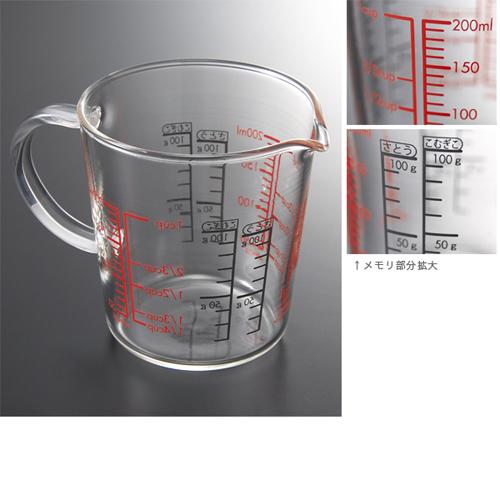 *● ハリオ ガラス製メジャーカップ200ml / 1個