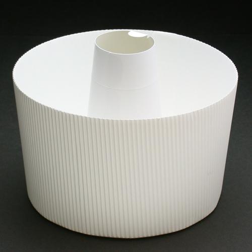 紙製シフォン型白17cmふた付
