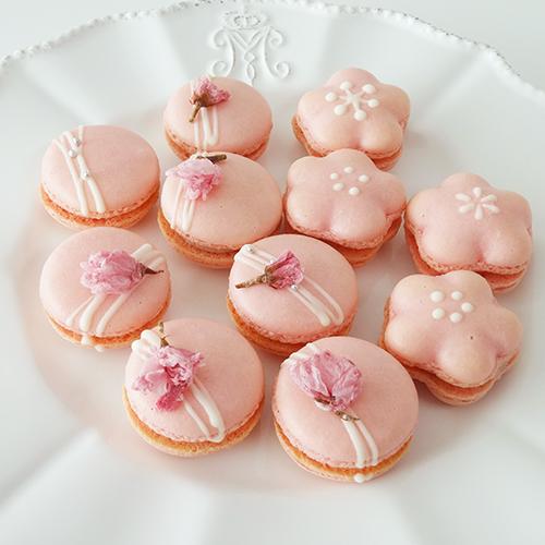 桜いちごマカロン