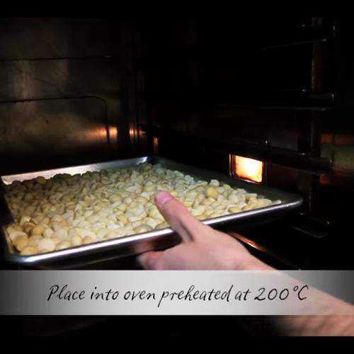 マカダミアナッツのロースト方法