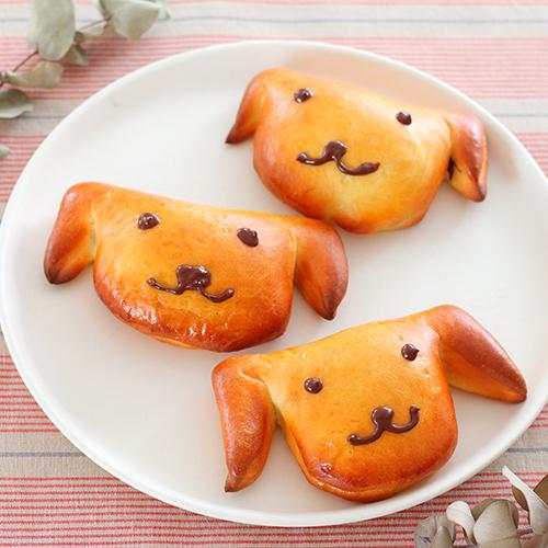 いぬの形のチョコクリームパン