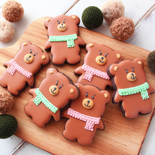 冬のくまさんクッキー