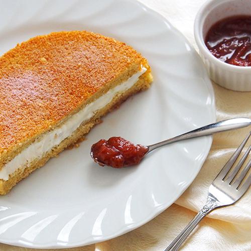 桜風味のケーキサンド