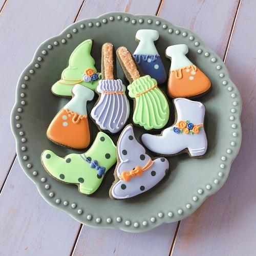 魔女のハロウィンアイシングクッキー