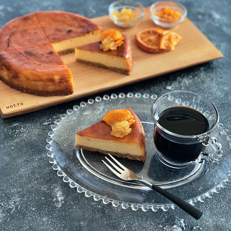 ジンジャーオレンジベイクドチーズケーキ