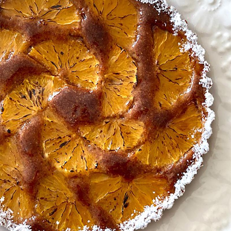 オレンジの焼き込みタルト(タルトオランジュ)