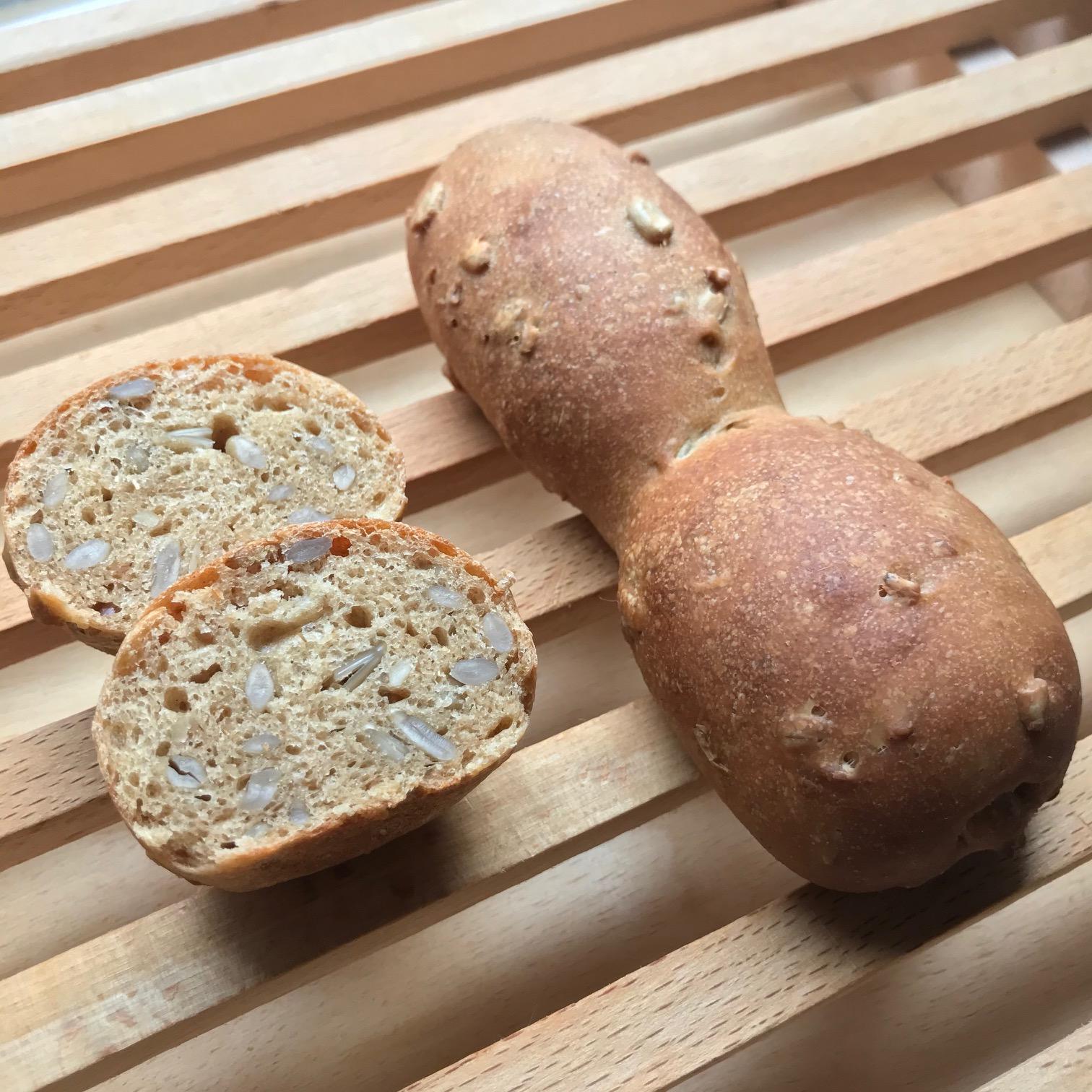 ホシノ丹沢酵母で作る☆香ばしピーナッツパン