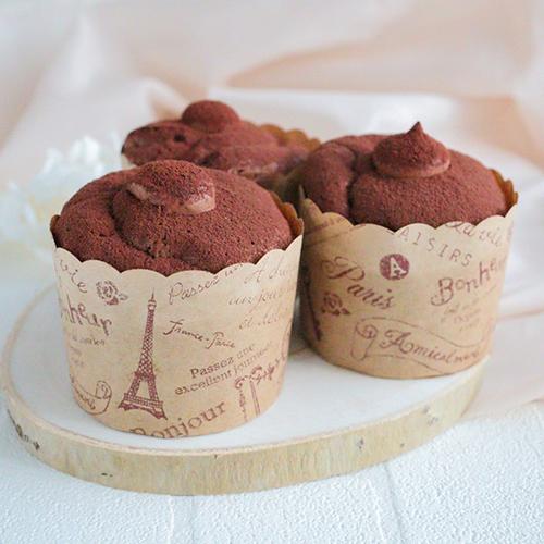 【低糖質】チョコカップシフォンケーキ
