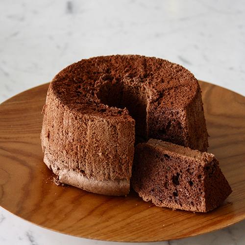 米粉のココアシフォンケーキ(低糖質・グルテンフリー)