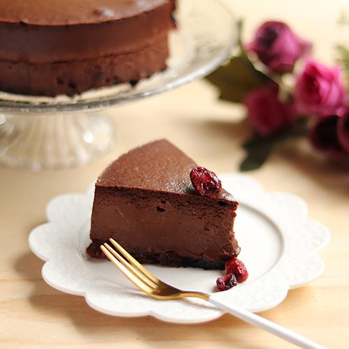 濃厚!クランベリーチョコチーズケーキ