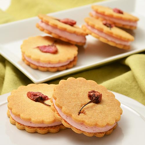 桜のクッキーサンド
