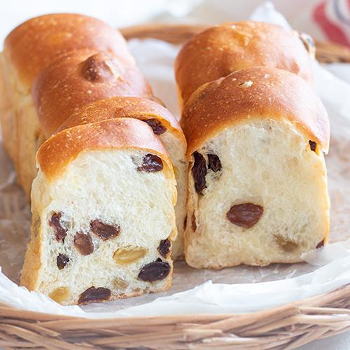 レーズンたっぷりスリム食パン