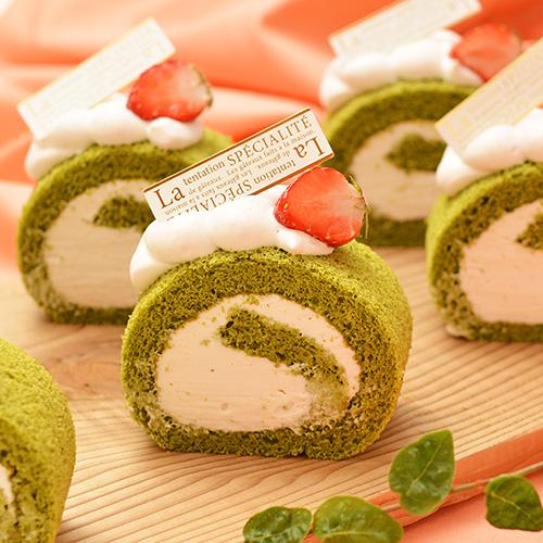 低糖質お菓子ミックスを使った抹茶ロール