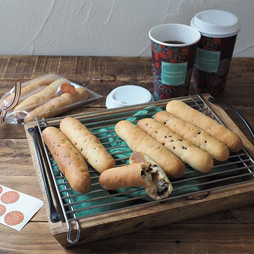 超時短発酵で、簡単!!たっぷりチョコチップのスティックパン