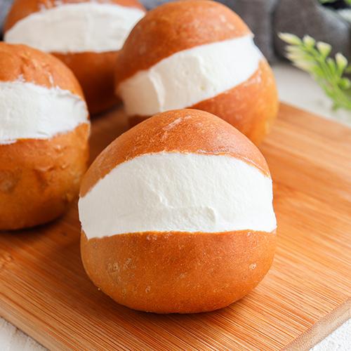 【低糖質】ふすまパンミックスで作るマリトッツォ