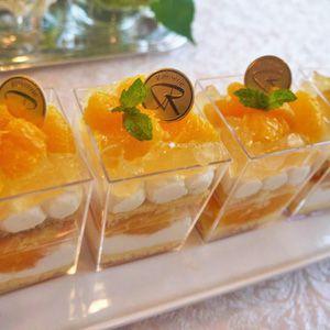 キラキラ☆オレンジのカップケーキ